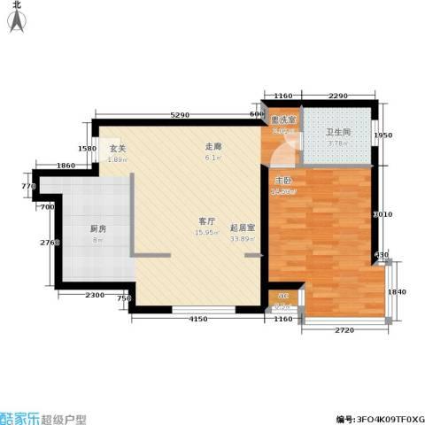 凯摩国际公寓1室0厅1卫0厨60.00㎡户型图