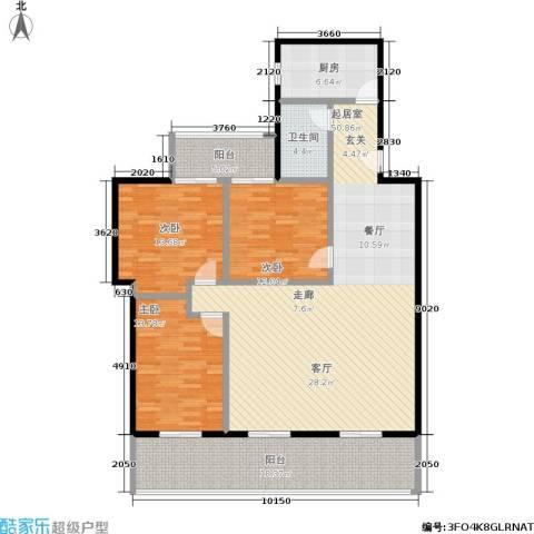 美丽愿景3室0厅1卫1厨139.00㎡户型图