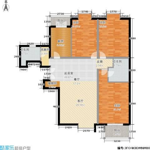蓝山国际3室0厅2卫1厨152.00㎡户型图