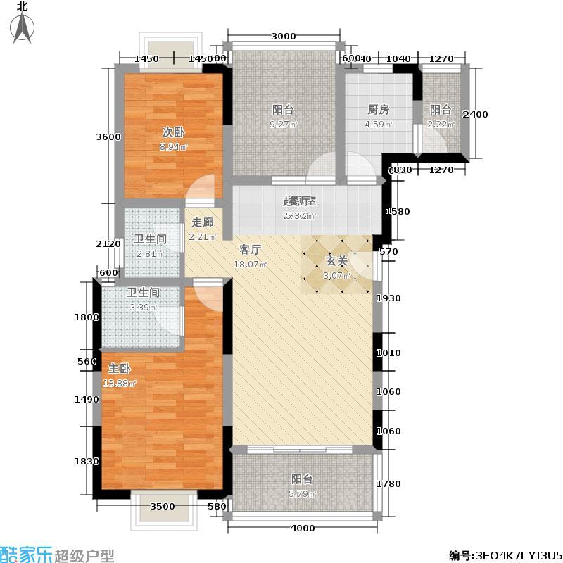 海棠香阁72.81㎡1室2厅1卫