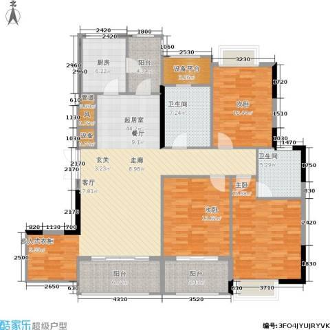 金色华庭3室0厅2卫1厨136.00㎡户型图