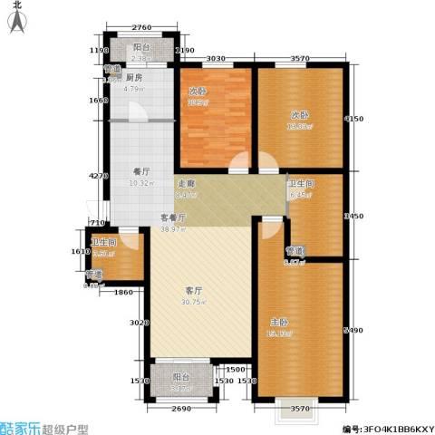 悦澜湾3室1厅2卫1厨139.00㎡户型图