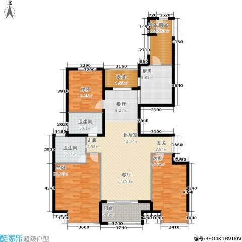 万达广场3室0厅2卫1厨142.00㎡户型图