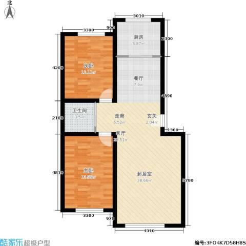 桃园新村2室0厅1卫1厨95.00㎡户型图