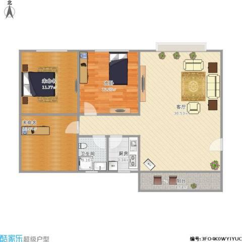 东方新地苑1室1厅1卫1厨110.00㎡户型图