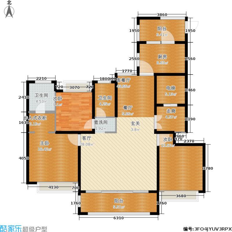 永宁公馆143.00㎡20、16、8、5、13、17、19楼C-1(3+)户型