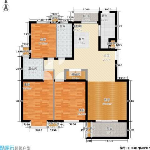 维多利金色华府3室1厅2卫1厨147.00㎡户型图