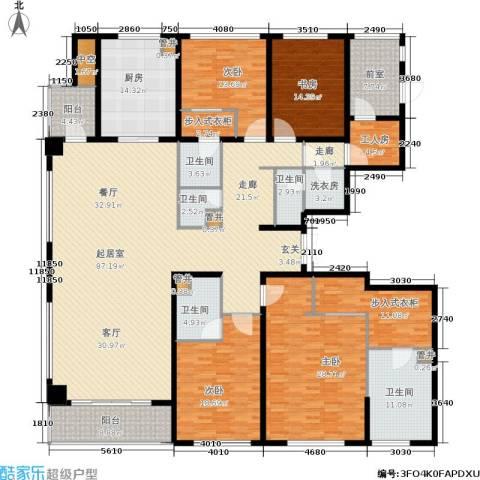 绿地华家池1号4室0厅5卫1厨280.00㎡户型图