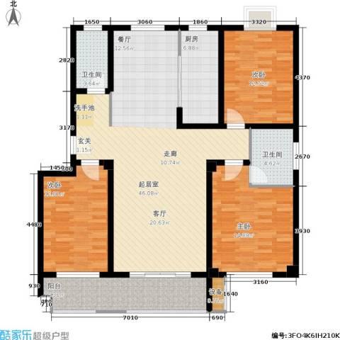 金江华城3室0厅2卫1厨128.00㎡户型图