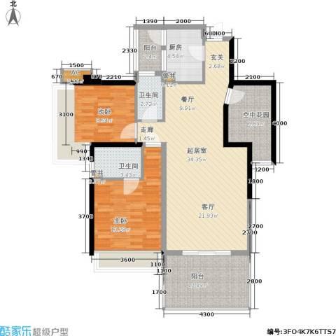 时代东安2室0厅2卫1厨126.00㎡户型图
