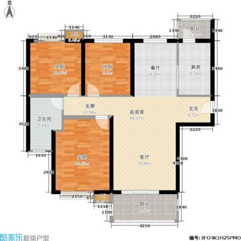 大地凤凰城3室0厅1卫1厨114.00㎡户型图