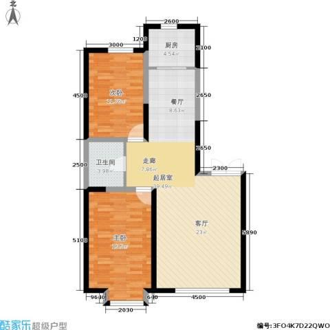 北大恒苑2室0厅1卫1厨102.00㎡户型图