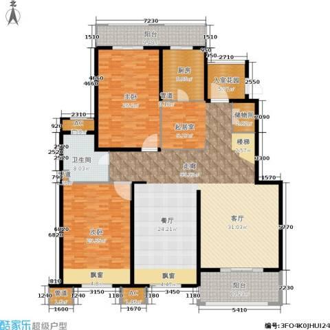 保利湖畔阳光苑2室0厅1卫1厨219.00㎡户型图