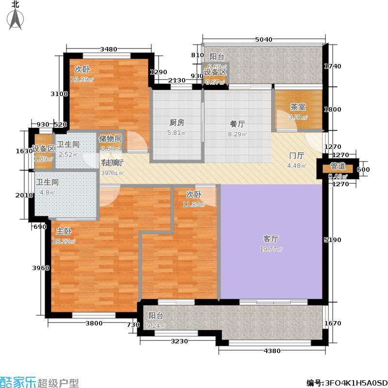 美加印象129.72㎡一期多层B3-5#楼A2户型