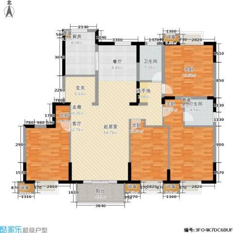 江南文枢苑二期4室0厅2卫1厨204.00㎡户型图