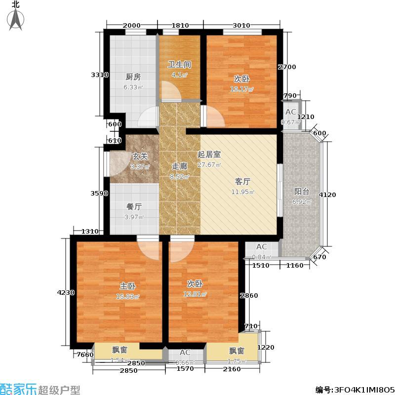 建投福美国际106.46㎡B区23#T9户型3室2厅