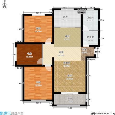 东海・香港城3室1厅1卫1厨123.00㎡户型图