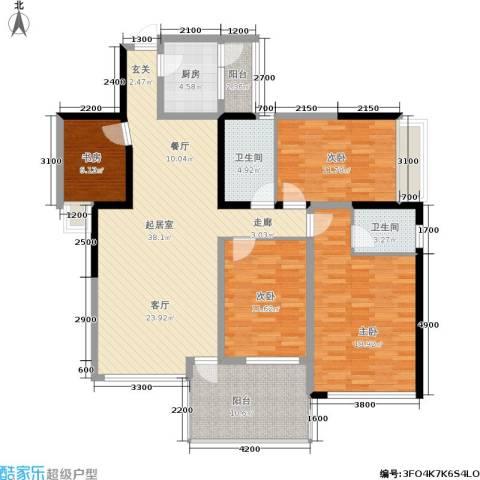 时代东安4室0厅2卫1厨160.00㎡户型图
