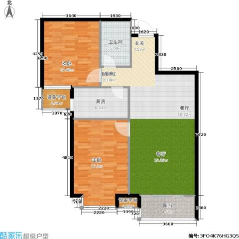番茄社区二期2室0厅1卫1厨95.00㎡户型图