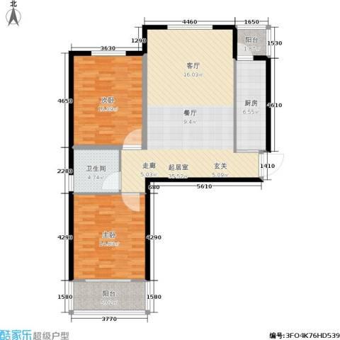 番茄社区二期2室0厅1卫1厨93.00㎡户型图