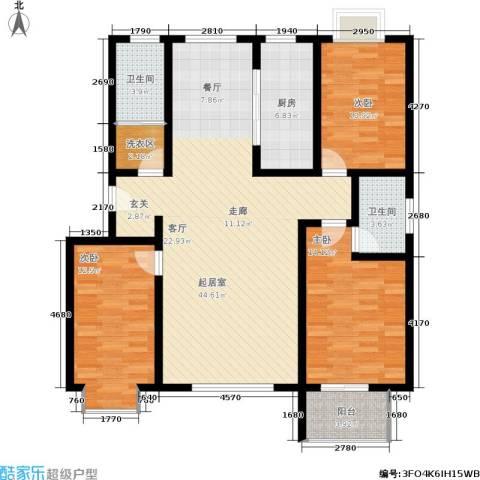 金江华城3室0厅2卫1厨118.00㎡户型图