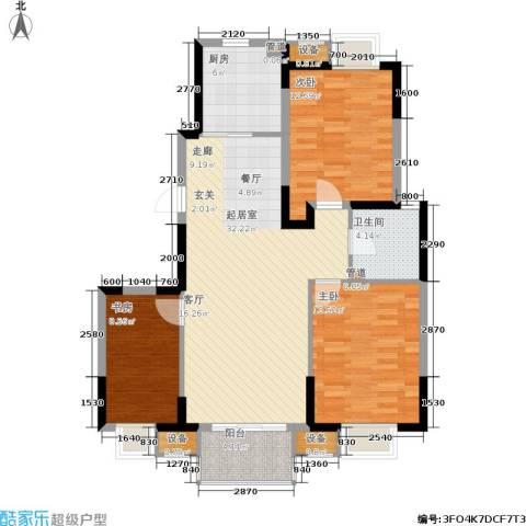 江南文枢苑二期3室0厅1卫1厨118.00㎡户型图