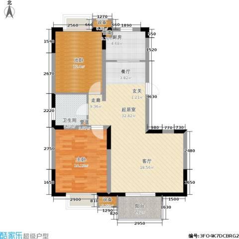 江南文枢苑二期2室0厅1卫1厨105.00㎡户型图