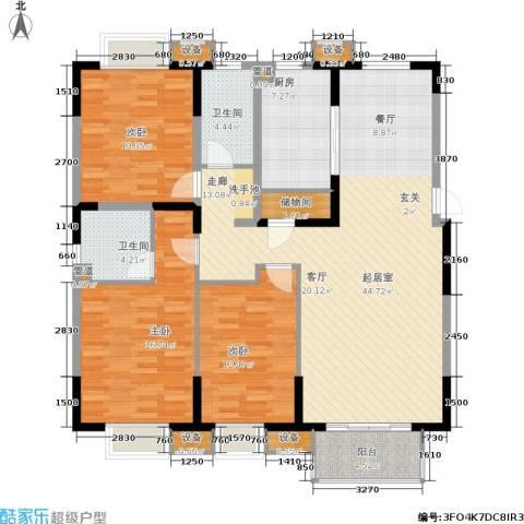 江南文枢苑二期3室0厅2卫1厨159.00㎡户型图