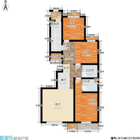 桐城中央3室1厅2卫1厨146.00㎡户型图