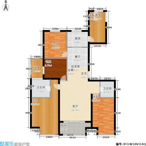 万达广场4室0厅2卫1厨160.00㎡户型图