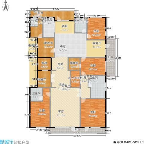 五矿万科·如园4室1厅4卫1厨304.00㎡户型图