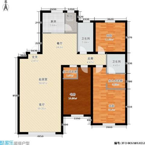 双兴六月天3室0厅2卫1厨174.00㎡户型图