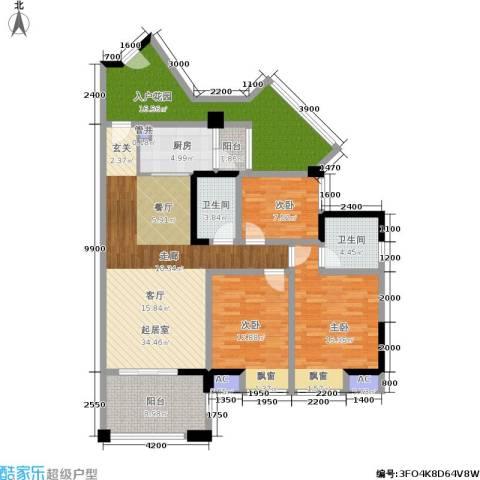 博雅海润广场3室0厅2卫1厨149.00㎡户型图