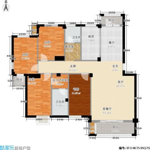 天籁华都4室1厅2卫1厨146.00㎡户型图
