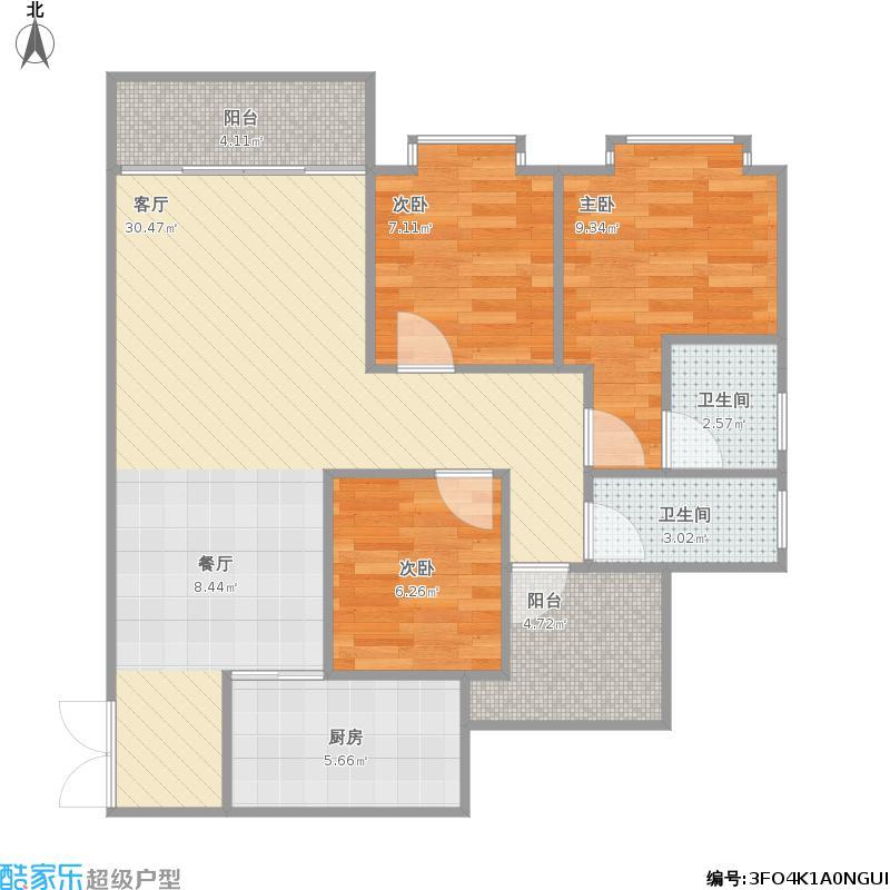 康盛南苑C2三房两厅
