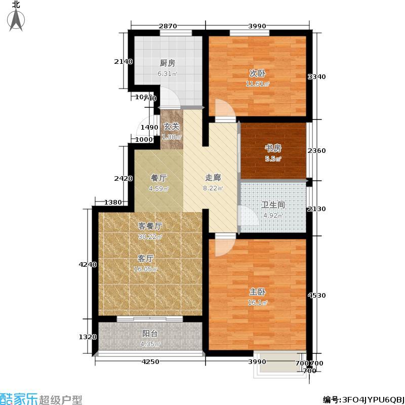 津尚花园90.24㎡8#楼标准层C-e户面积9024m户型