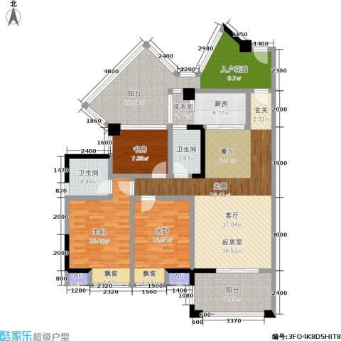 博雅海润广场3室0厅2卫1厨175.00㎡户型图