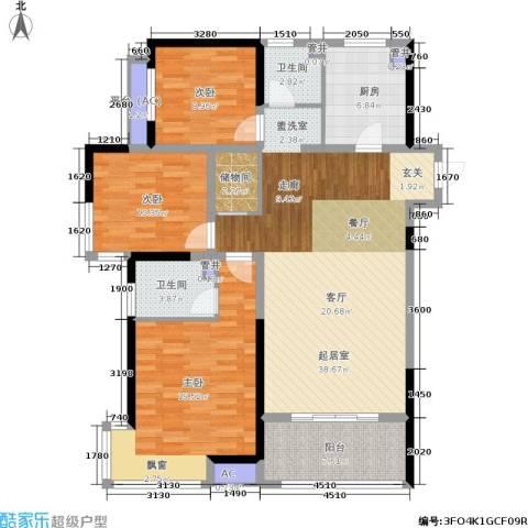 美的城3室0厅2卫1厨116.00㎡户型图
