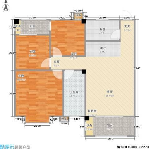 泰和新城3室0厅1卫1厨116.00㎡户型图