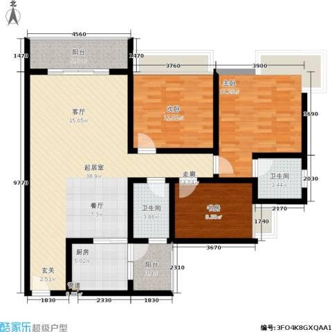 樊华似锦3室0厅2卫1厨120.00㎡户型图