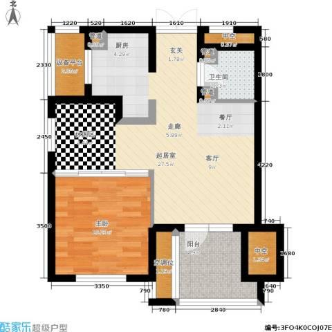 橡树园1室0厅1卫0厨61.00㎡户型图