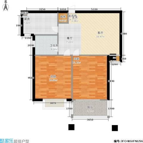 辰隆星河城2室0厅1卫1厨83.00㎡户型图