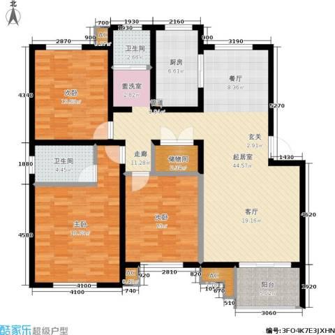 海正香醍湾3室0厅2卫1厨130.00㎡户型图