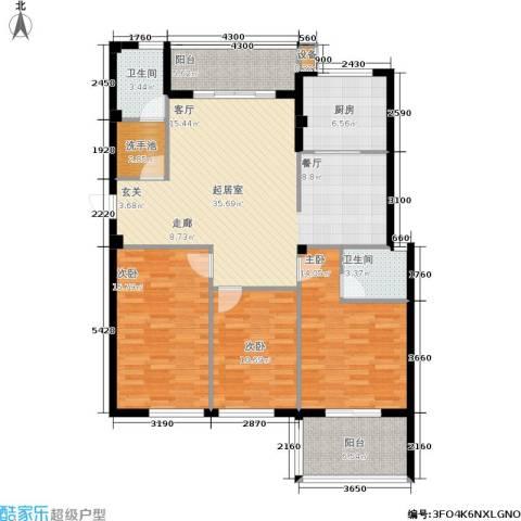 京华观邸3室0厅2卫1厨118.00㎡户型图