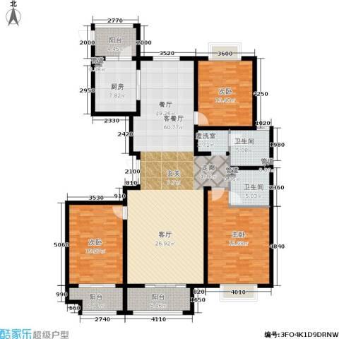 东海・香港城3室1厅2卫1厨160.00㎡户型图
