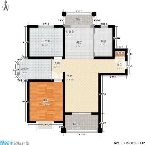 开祥天下城1室0厅2卫1厨119.00㎡户型图