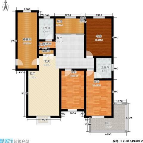 盛世春天3室0厅2卫1厨177.00㎡户型图