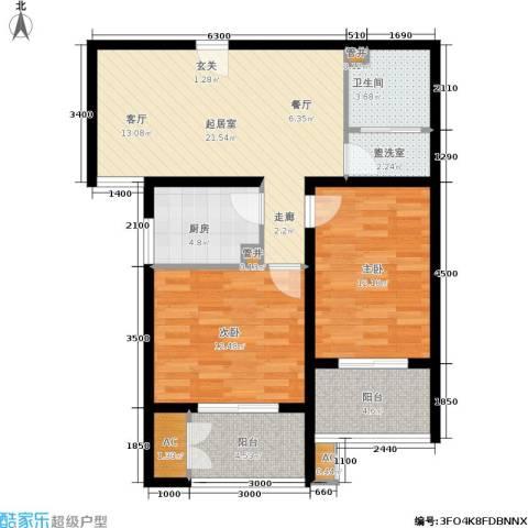 青城逸园2室0厅1卫1厨93.00㎡户型图