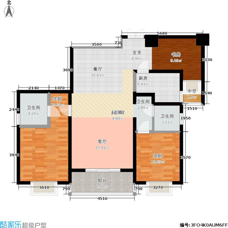 安徽圣大国际商贸中心134.00㎡140m2户型