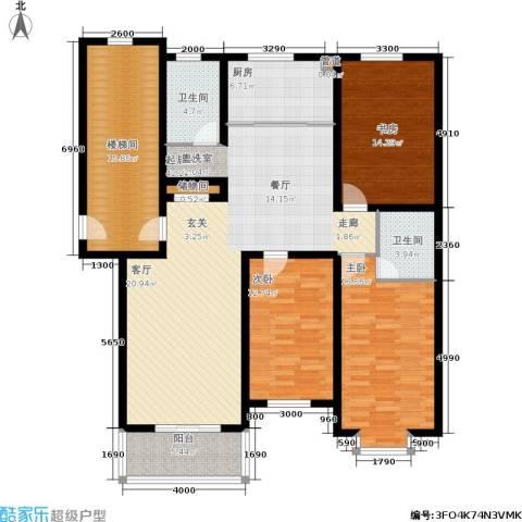 盛世春天3室0厅2卫1厨175.00㎡户型图
